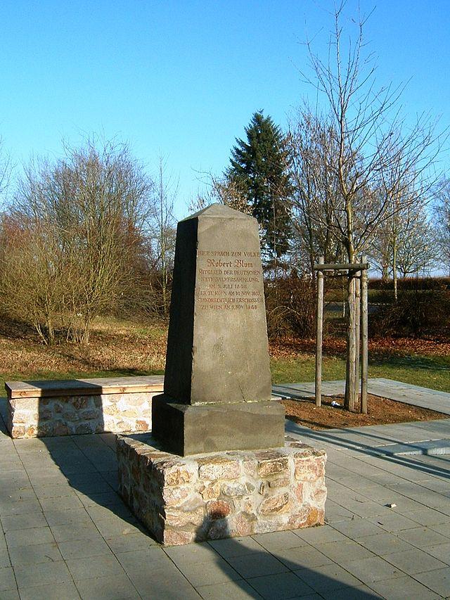 Gedenkstein für Robert Blum in Petterweil